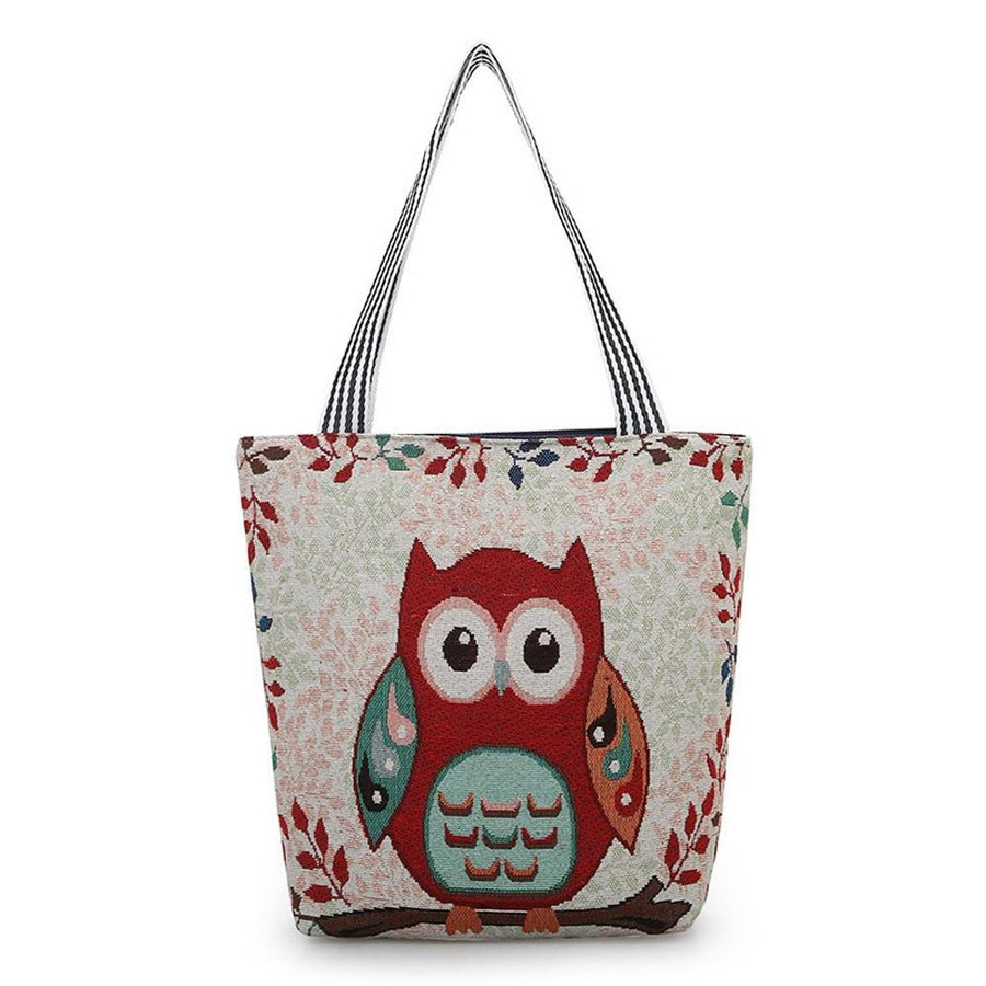 Owl Pattern Handbag | Tote Bag