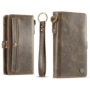 Flip Magnetic Case Wallet For Samsung Galaxy Note 8 with Wrist Strap - My Lifestyle Stores