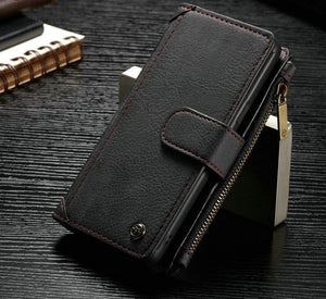 Wallet case with Removable Magnetic Phone Case Cover Metal Hook For iPhone 6s Plus - My Lifestyle Stores