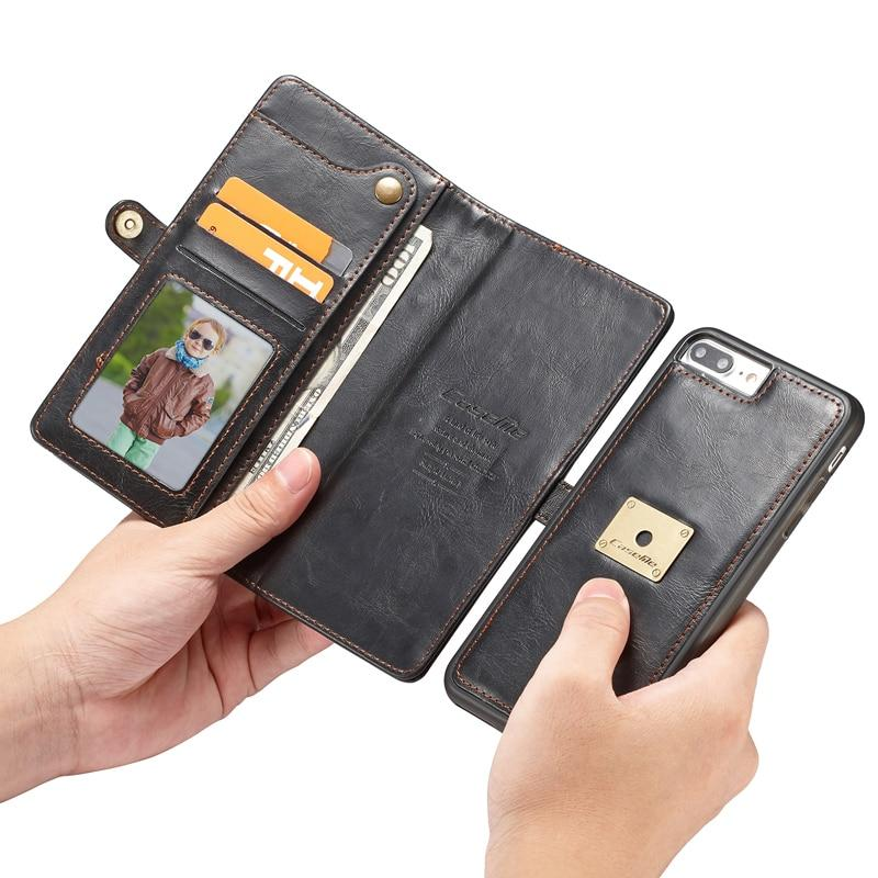 Luxury Retro Multi function Leather Wallet Card Pocket 2 In 1 Phone Cases For iPhone 7 8 Plus - My Lifestyle Stores