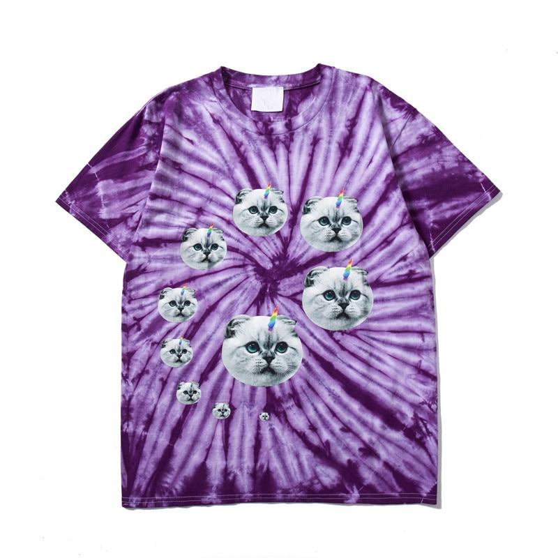 Tie Dye Cat Shirt - My Lifestyle Stores