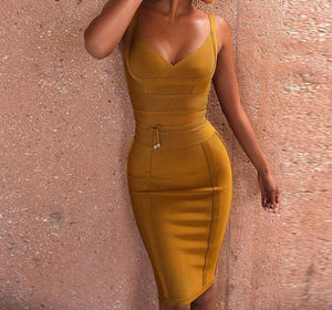 Strap Bandage Party Dress - My Lifestyle Stores
