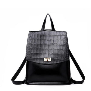 Crocodile Oil Wax Leather Bagpack - My Lifestyle Stores