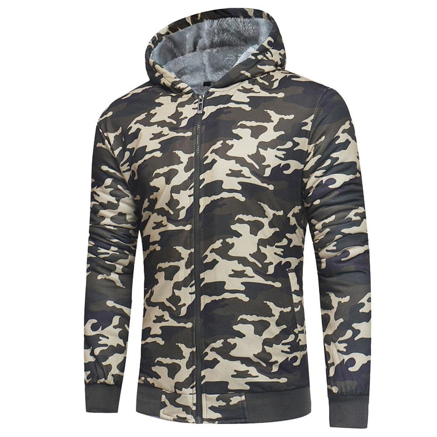 Camouflage Zipper Hoodie Jacket - My Lifestyle Stores