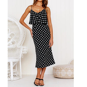 Polka Dot Ruffles Dress - My Lifestyle Stores