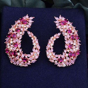 Geometric Flower Drop Earrings - My Lifestyle Stores