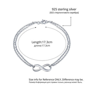 Genuine 925 Sterling Silver Infinity Bracelet - My Lifestyle Stores