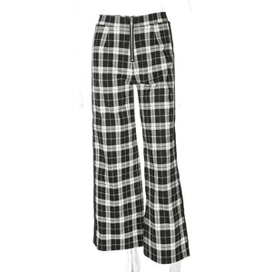 High Waist Plaid Pants - My Lifestyle Stores