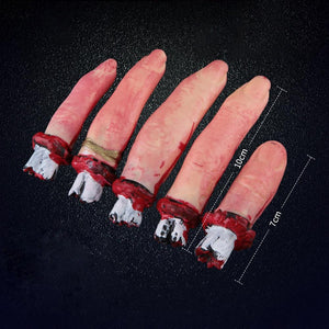 Trick or Treat Halloween Scary Fake bloody broken Fingers Prop - My Lifestyle Stores