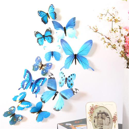 3D Butterfly Rainbow Magnet Wall Sticker - My Lifestyle Stores