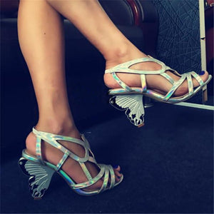 Butterfly High Heels Prom Dress Shoes - My Lifestyle Stores