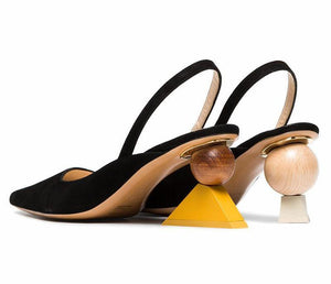 Designer Geometry Sculpture High Heels - My Lifestyle Stores