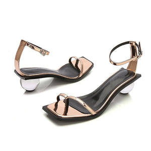 Transparent Ball Heel Ankle Strap Flip Flops - My Lifestyle Stores