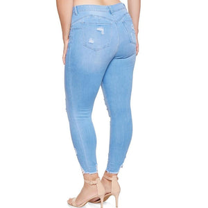 High Waist Ripped Jeans - My Lifestyle Stores