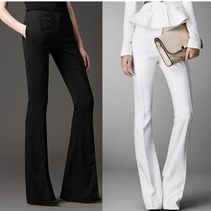Regular high Waist Flare pants 2018 new Fashion Trend - My Lifestyle Stores