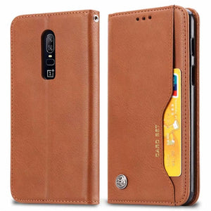 Luxury High Quality Wallet With Card Slot Flip Cover Leather Case For OnePlus 6 ( One Plus 6 ) - My Lifestyle Stores