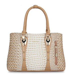 Luxury Crocodile Pattern Tote Bag - My Lifestyle Stores