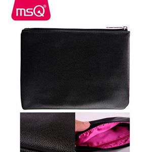 MSQ Pro 15pcs Makeup Brushes Synthetic Hair With PU Leather Case - My Lifestyle Stores