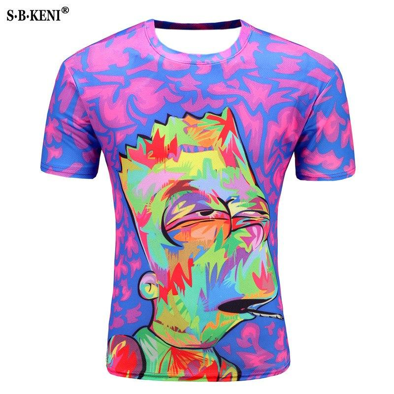 Men 3D printed smoking toy picture T-shirt - My Lifestyle Stores