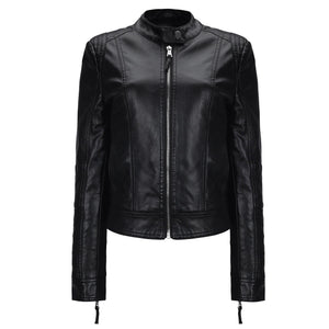 Stand Collar Leather Jacket - My Lifestyle Stores