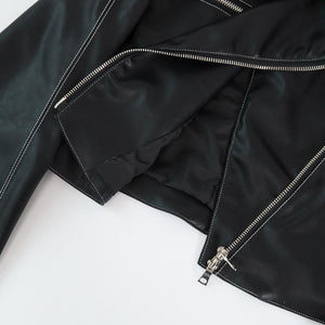Short Black Faux Leather Jacket - My Lifestyle Stores