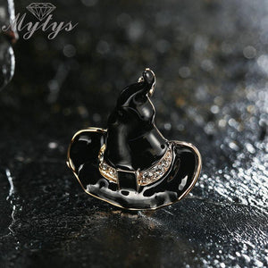 Black Enamel Witch hat Brooch Pins - My Lifestyle Stores