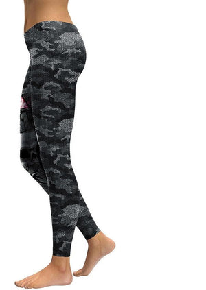 Camouflage 3D Printed Workout Leggings