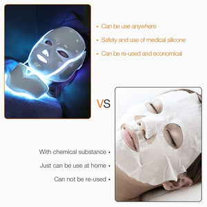 7 Colors Photon Electric LED Facial Mask