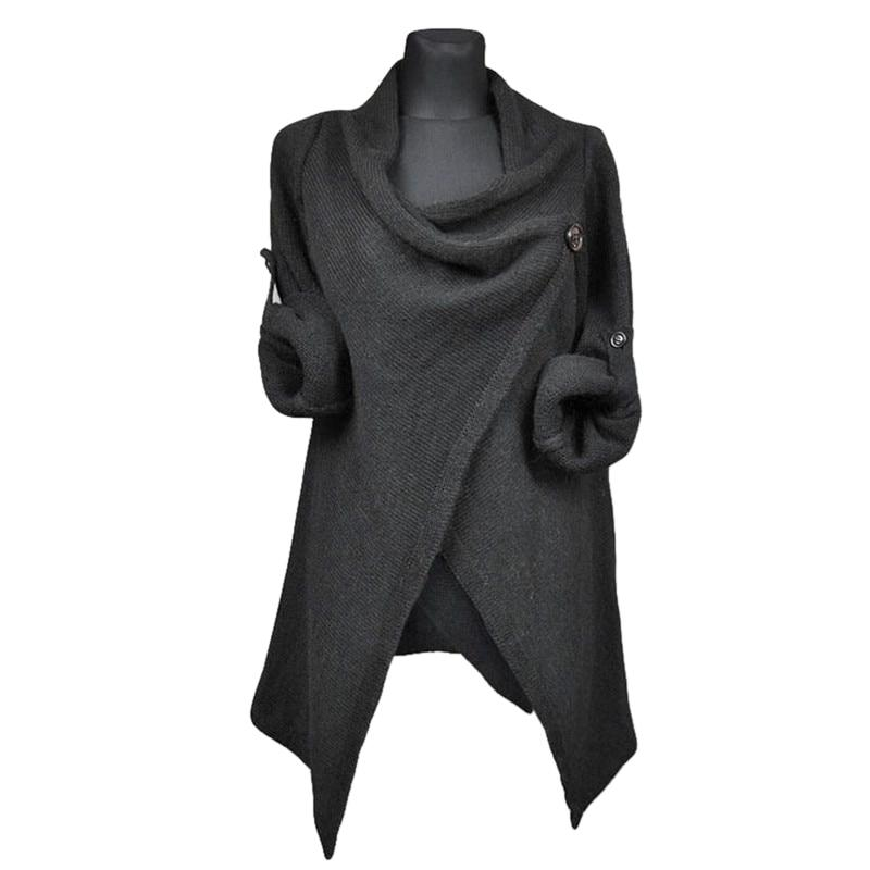 Ruffled Knitted Overcoat - My Lifestyle Stores