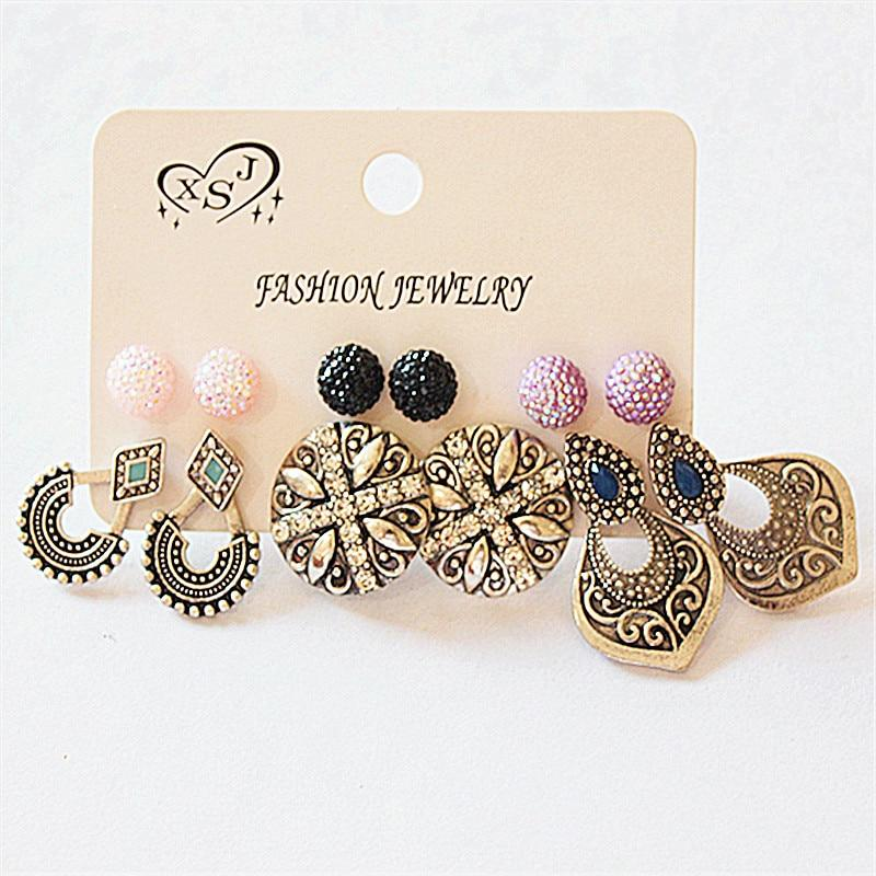 Retro Trendy Stud Earrings - My Lifestyle Stores