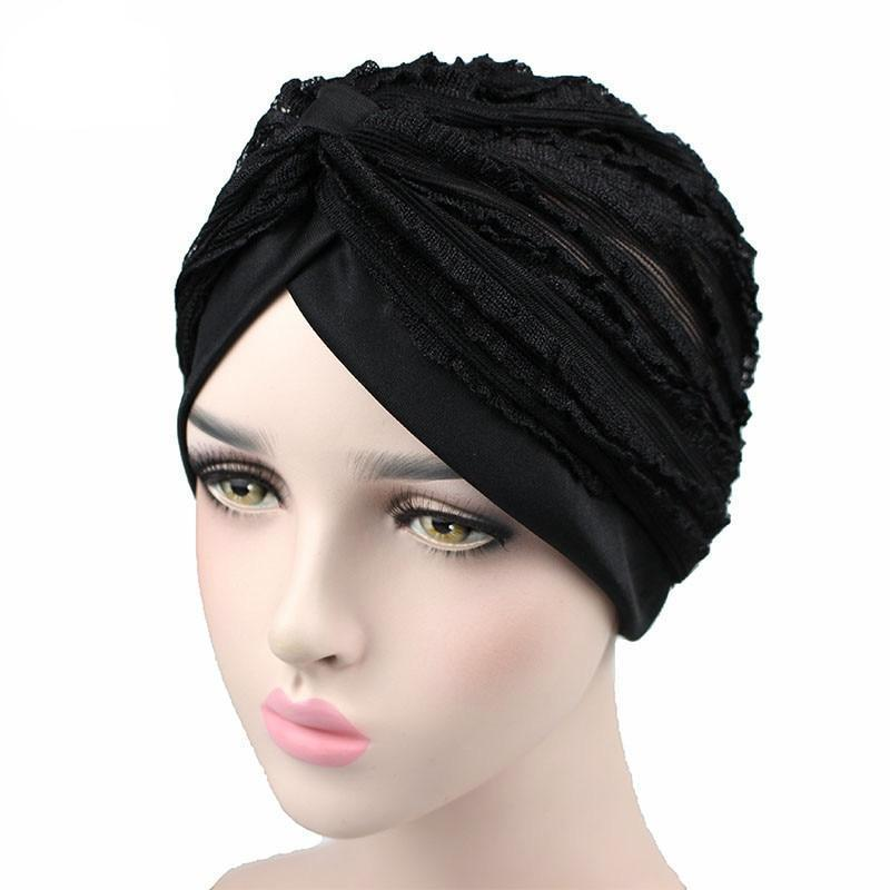 Lace Mesh Turban Headwear - My Lifestyle Stores