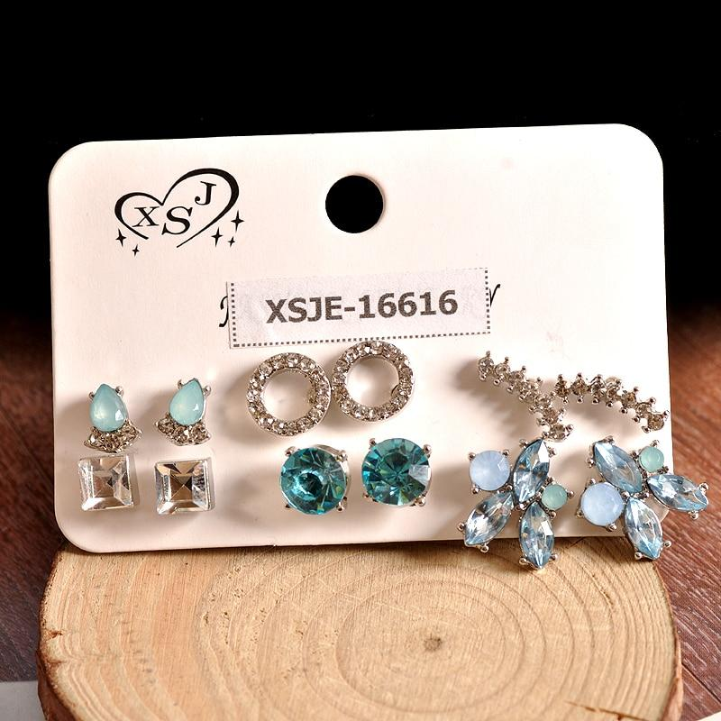 6 Pairs Beautiful Mix and Match Earrings