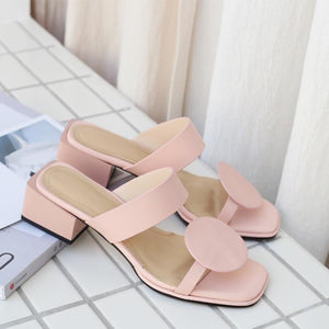 Open Toe Genuine Leather Sandals