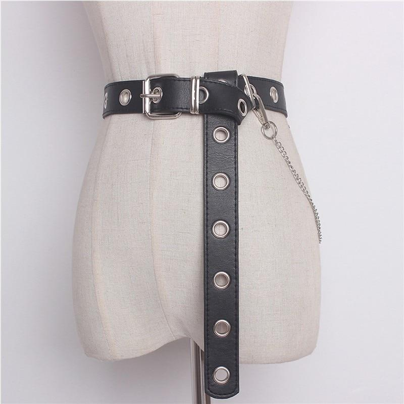 Chain Punk Hip-hop Leather Belt - My Lifestyle Stores
