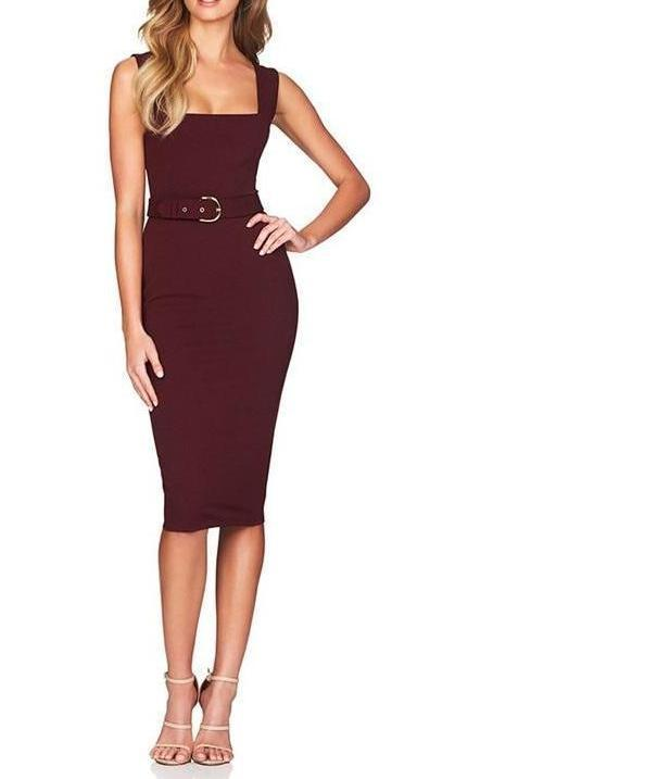 Belted Bandage Dress - My Lifestyle Stores