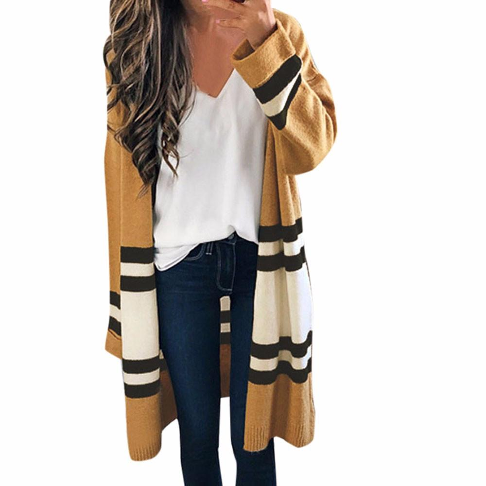 Street Fashion Striped Loose Cardigan | Trench - My Lifestyle Stores