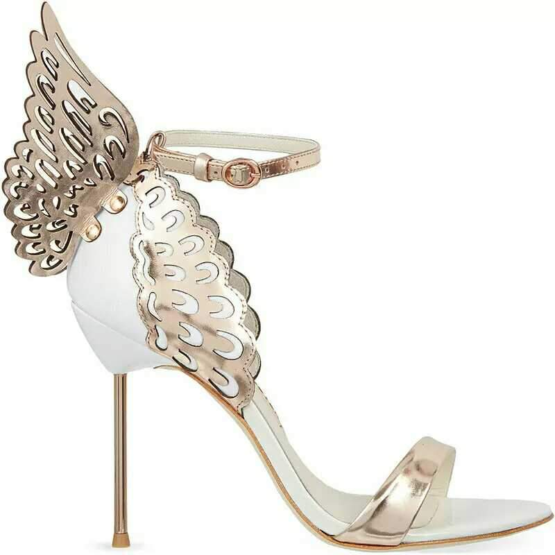 Butterfly Wings Metal heel Sandals - My Lifestyle Stores