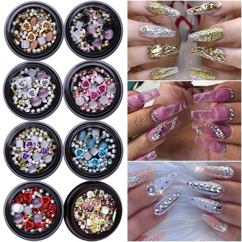 3D Glitter Nail Art Decoration Rhinestones Charms - My Lifestyle Stores