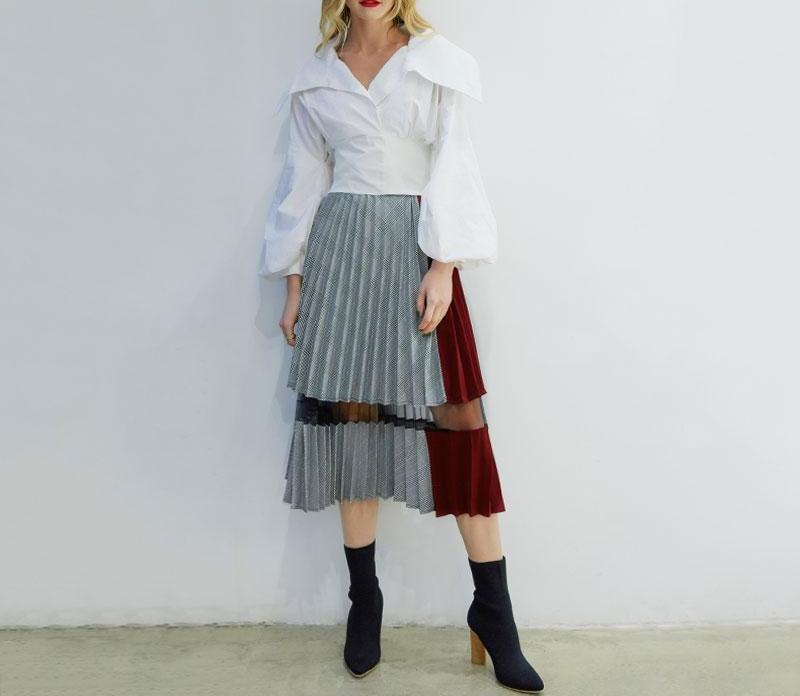 Splicing Pleated Skirt - My Lifestyle Stores