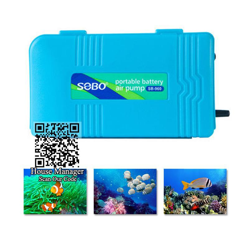 Portable Aquarium Oxygen Pump Fish Tank power by Cell Battery - My Lifestyle Stores