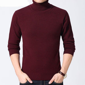 Turtleneck Thick Warm Cashmere Wool Pullover - My Lifestyle Stores