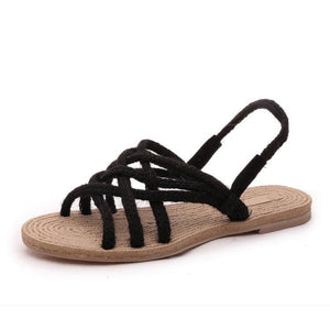 Soft Flat Natural hemp rope Sandals - My Lifestyle Stores