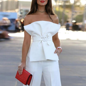 Ruffle Slash Neck Off Shoulder Shirt - My Lifestyle Stores