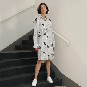 Vintage Lapel Collar Oversized Shirt - My Lifestyle Stores