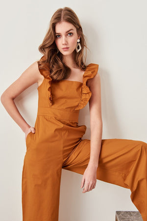 Frills Shoulder Jumpsuit - My Lifestyle Stores