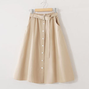 Elegant Skinny White Fresh Preppy Style Skirts - My Lifestyle Stores