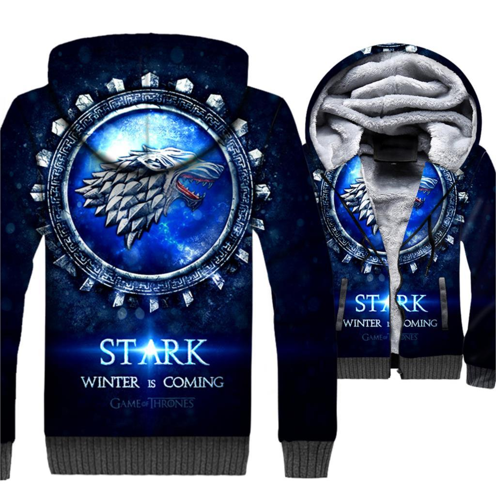 Winter Is Coming Game Of Thrones 3D Hooded Jacket For Men - My Lifestyle Stores