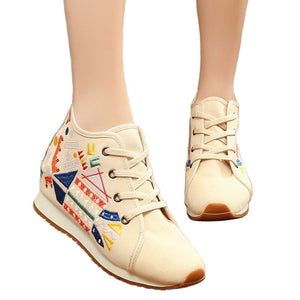 Women Embroidery Canvas Sneakers - My Lifestyle Stores