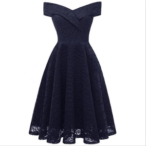 Deep V Collar Lace Sexy Dress - My Lifestyle Stores