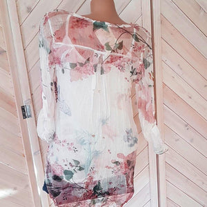 Floral Printed Long Sleeve Loose Top - My Lifestyle Stores